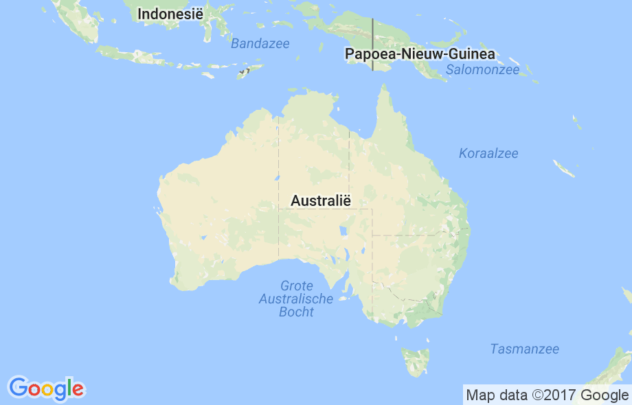 Waar ligt Australië?