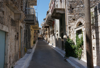 Smalle straat Chios